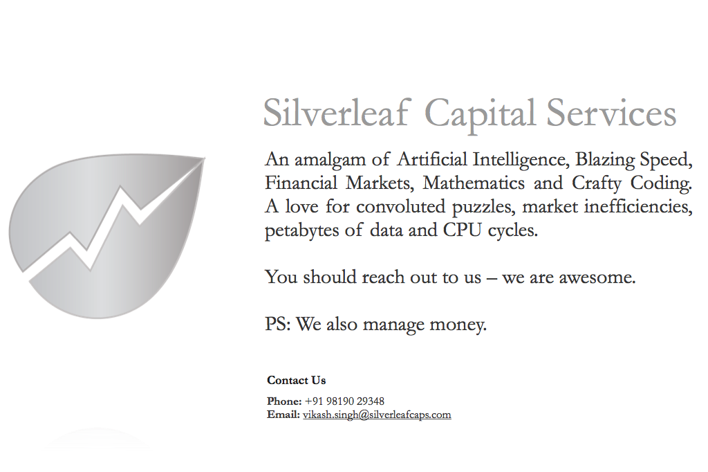 Silverleaf Capital Services, circa AD 2012